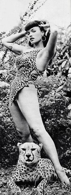 Happy Birthday Bettie Page <3 .Bettie Page by Bunny Yeager at Africa USA (1954)