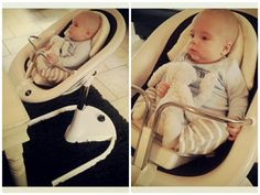 Yoël in The Netherlands looking comfy in his mima moon high chair!