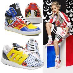 Rita Ora by Adidas Originals, la colaboración de la cantante y la firma que encontrarás en Sarenza.  Modalia | http://www.modalia.es/marcas/7162-adidas-originals-rita-ora.html  #Modalia #adidas #ritaora #shoes #sarenza #moda #tendencias #popart