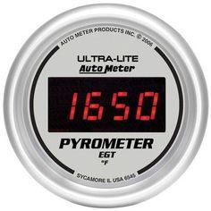 Auto Meter Ultra-Lite Digital Pyrometer Gauge, 0-2000 °F