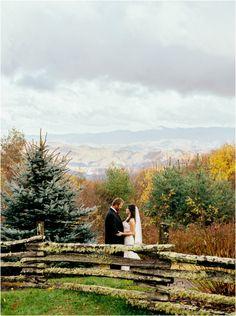 Gorgeous mountain wedding at The Swag Inn in Waynesville, NC.