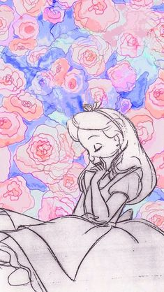 Alice in Wonderland // iPhone wallpaper