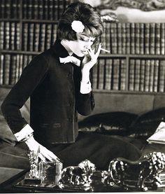 Marie-Helene Arnaud in suit by Chanel, 1959 | Sophia | Flickr