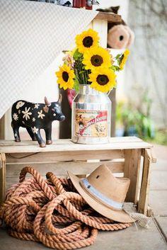Cowgirl Birthday, Cowgirl Party, Farm Birthday, Animal Birthday, Barnyard Party, Farm Party, Kids Party Decorations, Party Themes, Tema Cowboy