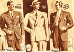 History of 1940's Men's Suits- What Men Wear - 1940's Fashion