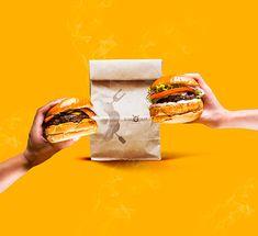 Black Sheep Hamburgueria - Social Media on Behance Food Graphic Design, Food Poster Design, Food Design, Big Burgers, My Burger, Fast Casual Restaurant, Fast Food Restaurant, Street Food, Food Styling