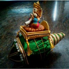 Decorative Coconut (Nariyal) with Ganesha - Online Shopping for Wedding by Riha-Wedding-Riha