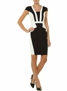 Black and ivory art deco dress
