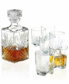 Bormioli Rocco Selecta 7-Piece Whiskey Glassware Set - Casual Dining - Kitchen - Macy's