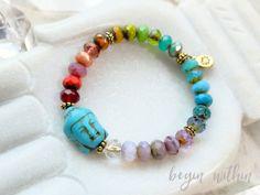 Rainbow Buddha Bracelet | Color Healing Chakra Bracelet | Chakra Jewelry | Rainbow Bracelet | Rainbow Jewelry | Buddha Jewelry