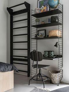 Living Room Scandinavian String System - The home of ten smart ideas. Boy Room, Kids Room, String Shelf, Interior Decorating, Interior Design, Home Office Decor, Smart Home, Girls Bedroom, Bedroom Ideas