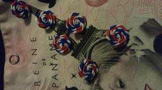 FLeurs de Paris bleu blanc rouge : Déco, Customisation Textile par claudeplume