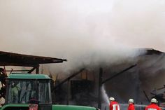 Brand in landwirtschaftlichem Gebäude