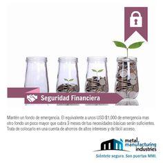Por tu #SeguridadFinanciera siempre, siempre, siempre mantén un fondo de emergencia. Te recomendamos al menos uno que cubra 3 meses de tus necesidades básicas.