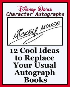 12 Totally Cool Ideas to Replace Your Usual Disney Character Autograph Books (planning article)