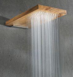 wooden shower head...