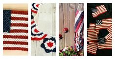 In this YarnWars FREE Pattern Picks edition, find some great Independence Day, American flag design crochet & knit patterns from around the web! Happy Independence Day, Flag Design, Knit Patterns, American Flag, Free Pattern, Knitting, How To Make, Crafts, Bunting Design