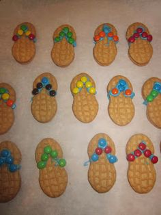 Flip Flop cookies - too cute - and great for a birthday beach party instead of cake!