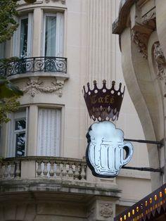 Enseigne bière à Paris.