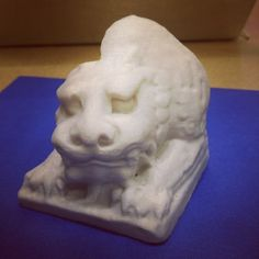 Guardian Lion Bookend, born in the Northern Qi dynasty in the mid 6th Century, captured at the Met by John and Svetlana Briscella and #Made on MakerBot #8401