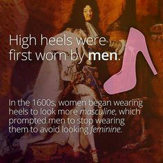 More conflicting history on the origin of the high heel