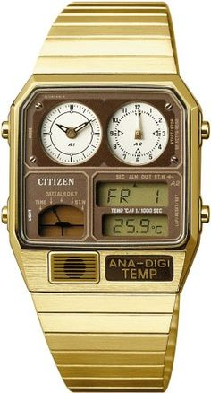 317be19d074 Citizen Digi Temp Watch. analog and digital displays. all it needs is a  calculator