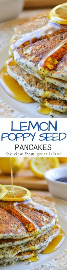 This recipe for Lemon Poppy Seed Pancakes has been tantalizing me all week.  I adapted it from the Joy of Cooking.  This unexpected combination is a refreshing change from regular pancakes and it's perfect for a special occasion or just any time you want to treat yourself!
