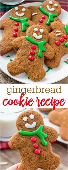 Gingerbread Cookie recipe - These cookies are soft with slightly crispy edges and a delicious ginger molasses flavor.