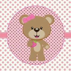 Tags pink and brown Ursinha to print - Tips for Mom Scrapbook Bebe, Scrapbook Images, Teddy Bear Party, Cute Clipart, Party Kit, Baby Cards, Baby Shower Decorations, Baby Quilts, Decoupage