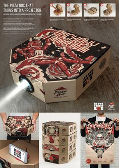 Pizza Hut Block Buster Projector Box on Packaging of the World - Creative Package Design Gallery