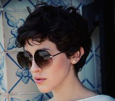 The best collection of Great Curly Pixie Hair, Pixie cuts, Latest and short curly pixie haircuts, Curly pixie cuts pixie hair Pixie Cut Wavy Hair, Short Wavy Pixie, Curly Pixie Haircuts, Thick Curly Hair, Short Hair Cuts, Thick Pixie Cut, Oval Face Hairstyles, Hairstyles Haircuts, Short Hair Styles Easy