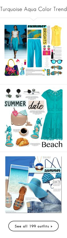 """""""Turquoise Aqua Color Trend"""" by yours-styling-best-friend ❤ liked on Polyvore featuring disney, aqua, turquoise, frozen, elsa, SlimSation, Moschino, Dolce&Gabbana, Spektre and Amenapih"""