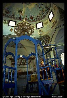 Synagogue interior, Safed (Tzfat). Israel