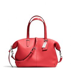 The Bleecker Small Cooper Satchel In Pebbled Leather from Coach