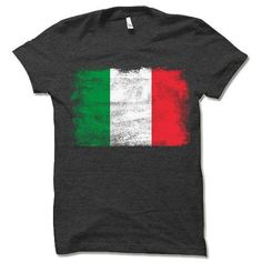 Italian Flag T Shirt | Flag of Italy Shirts Gifts Flag Shirt, T Shirt, France Flag, Funny Gifts For Dad, Charcoal Color, Size Chart, At Least, Mens Tops, Blue Green