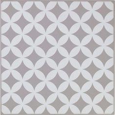 Décor Astuce corolle gris galet n°5, l.20 x L.20 cm