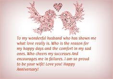 Happy Anniversary Wishes Images and Quotes. Send Anniversary Cards with Messages. Happy wedding anniversary wishes, happy birthday marriage anniversary Anniversary Message For Husband, Happy Anniversary Messages, Anniversary Quotes For Parents, Wedding Anniversary Quotes, Wedding Quotes, Anniversary Sayings, 25th Anniversary, Wedding Wishes, Wedding Ideas