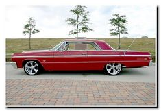 64 chevy impala....I had one of these when I was 16..totaled it 3 months later...wish I still had it. #chevroletimpala1964