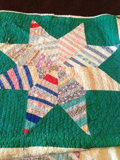 8 Point Strip Star quilt detail