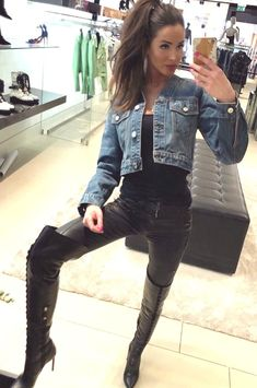 Thigh High Boots, Knee Boots, Botas Sexy, Thigh Highs, Leather Boots, Thighs, Womens Fashion, Girls, Outfits