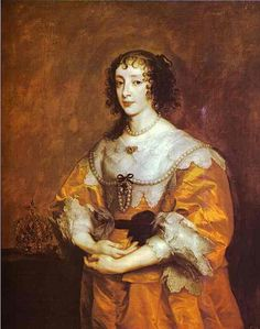Queen Henrietta Maria, Wife of King Charles I, mother of Charles II