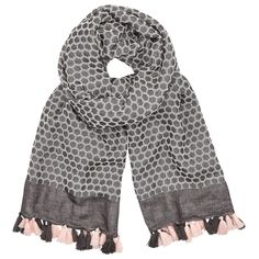 Buy AND/OR Flower Stamp Jacquard Scarf, Black from our Women's Hats, Gloves & Scarves range at John Lewis & Partners. Large Scarf, Flower Stamp, Hats For Women, Stylish, Flowers, How To Make, Pattern, Cotton, Stuff To Buy