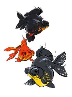 16 Ideas for drawing animals fish character design Animal Sketches, Animal Drawings, Art Sketches, Art Drawings, Drawing Animals, Character Design References, Character Art, Sketch Style, Illustrations