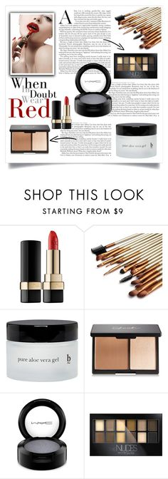 """"""""""" by nxtmoon ❤ liked on Polyvore featuring beauty, Dolce&Gabbana, BBrowBar, MAC Cosmetics and Maybelline"""