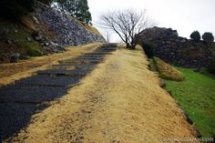 Japanese castles I've visited: #30 Hizen Nagoya Castle in Karatsu (Saga Prefecture). I was extremely unlucky with the weather that day and thus I also was the only one up there. Typhoon-like rainstorms although it was the end of December. Freezing cold!