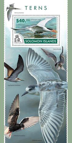Post stamp Solomon Islands SLM 15307 bTerns (Hydroprogne caspia)