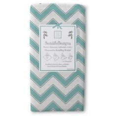 Chevron - Turquoise with Dark Gray Trim