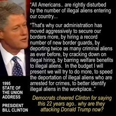 When Bill Clinton promised to crack down on illegal immigration, he was cheered. Why is Donald Trump being called a racist for actually doing something about it?