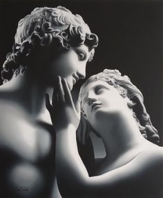 A caress before Antonio Canova says goodbye The themes with Your Need with Porcelain figurine Art Du Monde, Greek Statues, Art Sculpture, Ceramic Sculptures, Classical Art, Renaissance Art, Aesthetic Art, Aesthetic Statue, Art And Architecture
