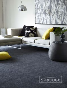 Cormar's Sensation Original.  Colour Arctic Grey. A 60oz deep pile carpet with a luxury lustrous feel.  Available in Carpet shops near you.  Approximate Retail Price  £26 sq.m.